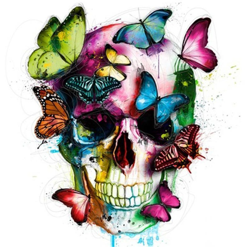 Butterfly Skull 5D DIY Paint By Diamond Kit - Paint by Diamond