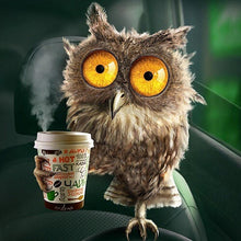 Owl Drinking Coffee 5D DIY Paint By Diamond Kit - Paint by Diamond