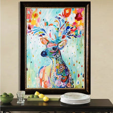 Colorful Reindeer 5D DIY Paint By Diamond Kit - Paint by Diamond