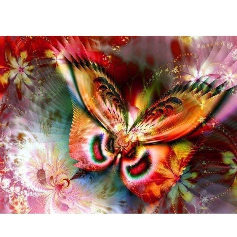 Abstract Butterfly 5D DIY Paint By Diamond Kit - Paint by Diamond