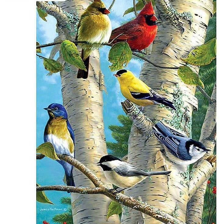 Colorful Birds On Branches 5D DIY Paint By Diamond Kit - Paint by Diamond