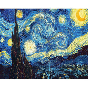 Van Gogh Starry Night 5D DIY Paint By Diamond Kit