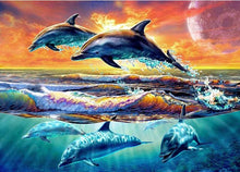 Dolphin Sunset 5D DIY Paint By Diamond Kit