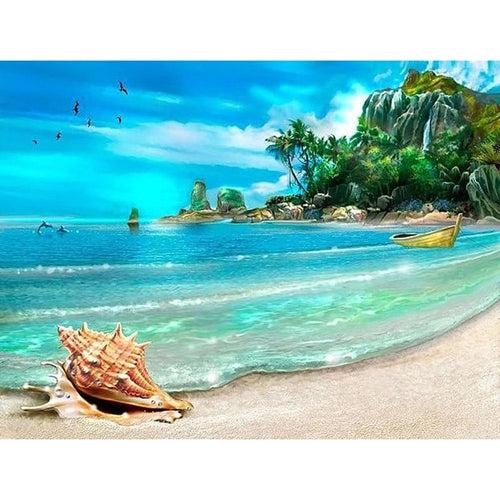Landscape Beach 5D DIY Paint By Diamond Kit - Paint by Diamond