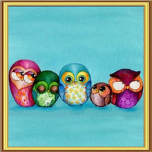 5 Owls 5D DIY Paint By Diamond Kit - Paint by Diamond