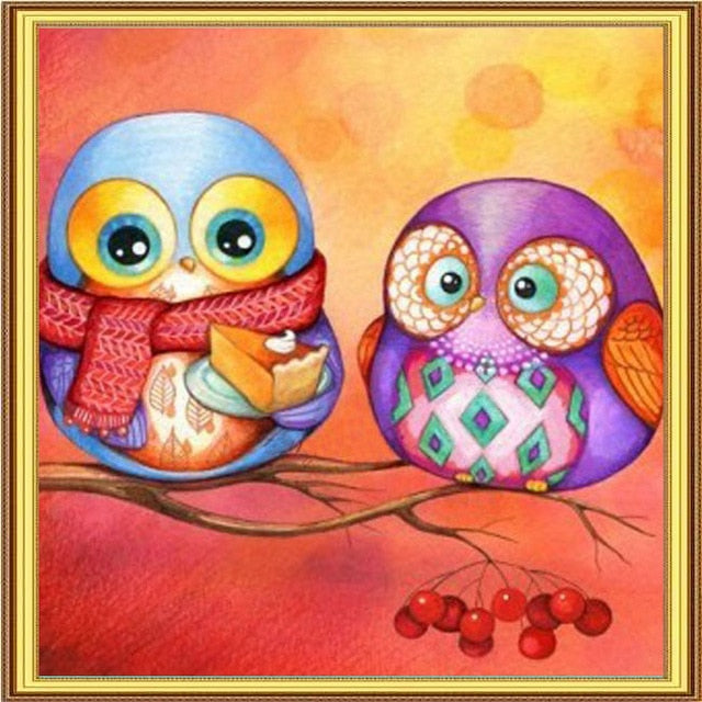 Double Birds 5D DIY Paint By Diamond Kit - Paint by Diamond