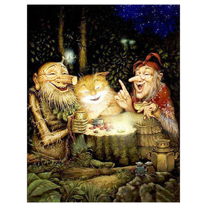 Cat and Elves 5D DIY Paint By Diamond Kit - Paint by Diamond
