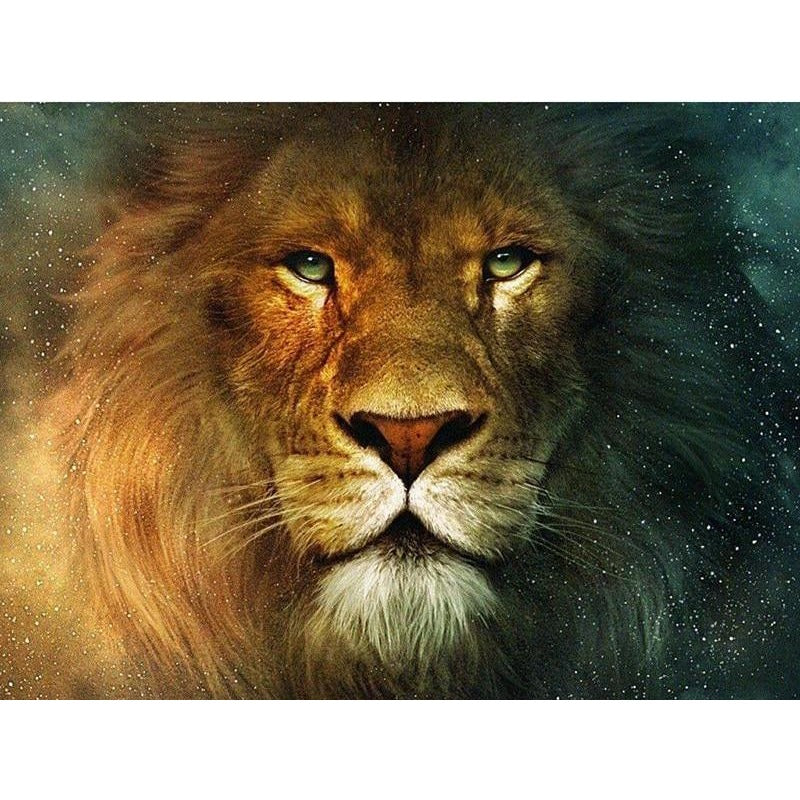 Brave Lion 5D DIY Paint By Diamond Kit - Paint by Diamond