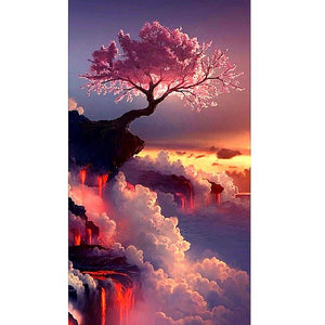 Sunset tree 5D DIY Paint By Diamond Kit - Paint by Diamond