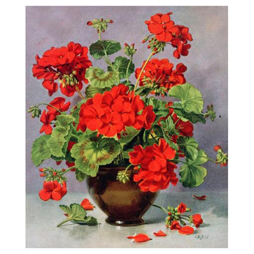 Flower Vase 5D DIY Paint By Diamond Kit
