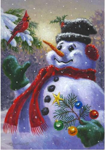 Looking Up Snowman 5D DIY Paint By Diamond Kit