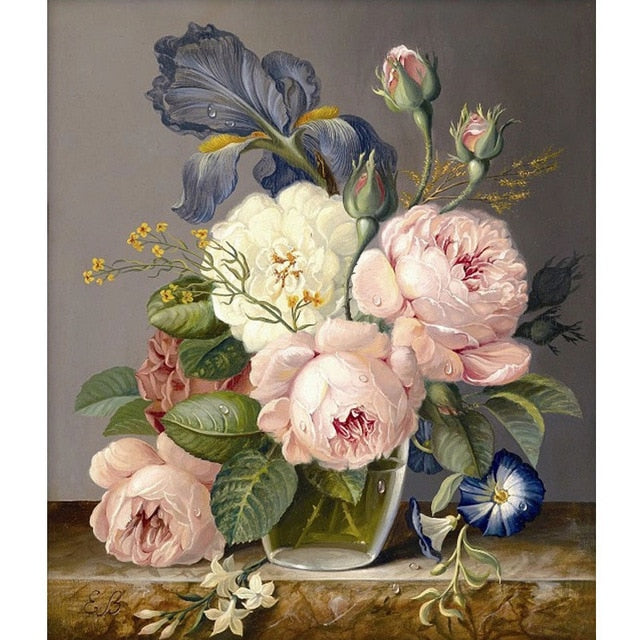 Beautiful Flower Painting 5D DIY Paint By Diamond Kit