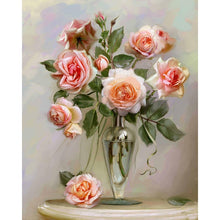 5D DIY Diamond Painting Peony Flowers Modern Embroidery Full Square Diamond Cross Stitch Rhinestone Mosaic Painting Home Decor - Paint by Diamond