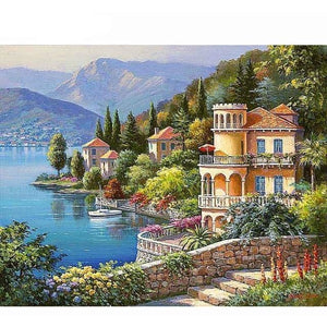 Greece Beautiful Scenery 5D DIY Paint By Diamond Kit - Paint by Diamond