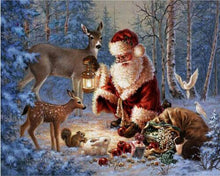 Santa & Deers 5D DIY Paint By Diamond Kit