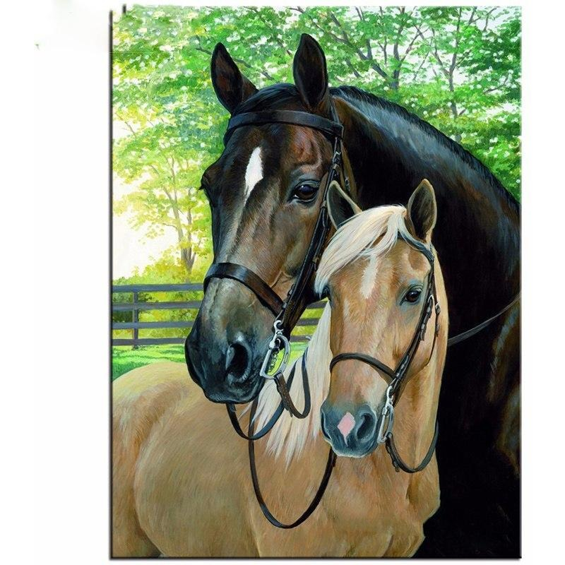 Horse Couple 5D DIY Paint By Diamond Kit - Paint by Diamond