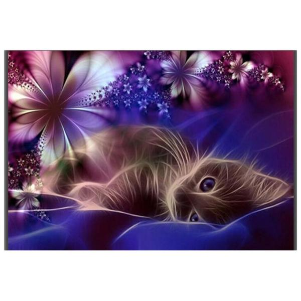 Dream Cat 5D DIY Paint By Diamond Kit