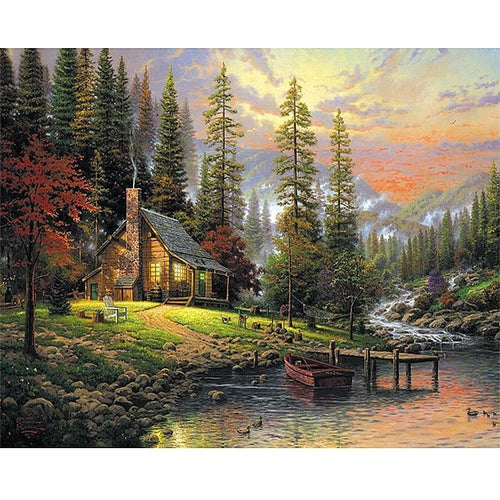 Autumn Scenery 5D DIY Paint By Diamond Kit - Paint by Diamond