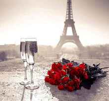 Eiffel Tower & Wine 5D DIY Paint By Diamond Kit