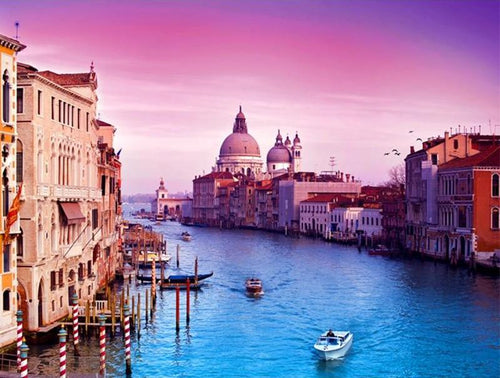 Venice Watertown 5D DIY Paint By Diamond Kit