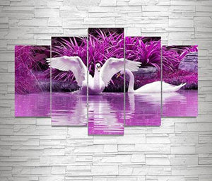 Swan Lake 5D DIY Paint By Diamond Kit