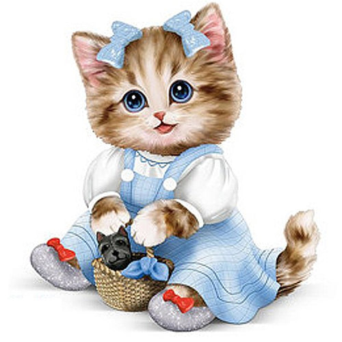 Adorable Cartoon cat 5D DIY Paint By Diamond Kit