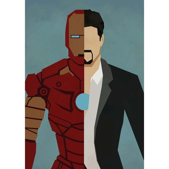 Cartoon Iron Superhero 5D DIY Paint By Diamond Kit