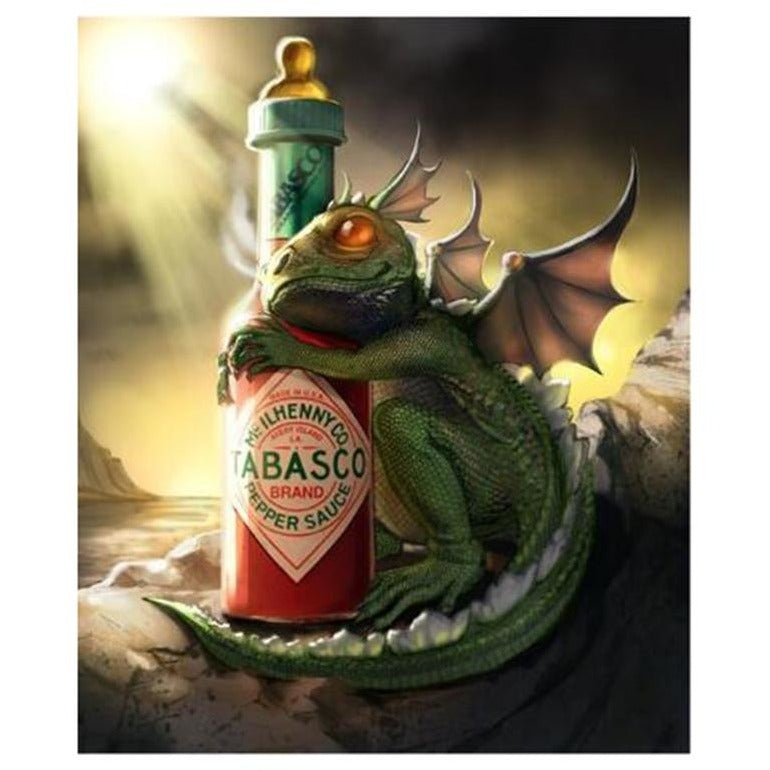 Dragon Loves Tabasco 5D DIY Paint By Diamond Kit - Paint by Diamond