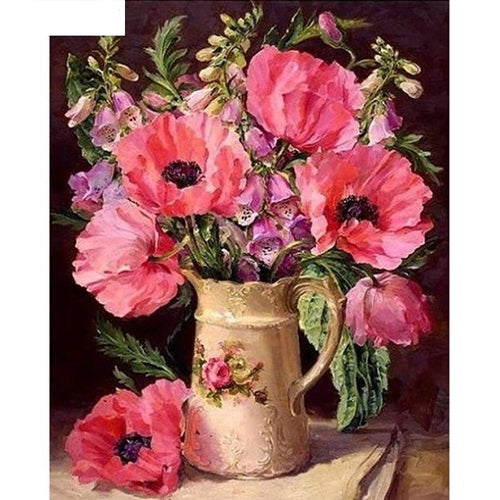 Flowers In A Vase 5D DIY Paint By Diamond Kit