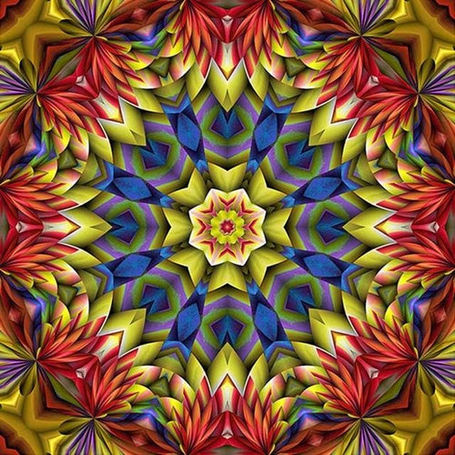 Red Religion Mandala Mosaic 5D DIY Paint By Diamond Kit - Paint by Diamond