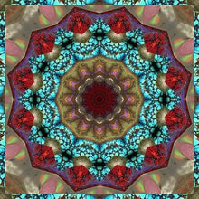 Burgundy Religion Mandala 5D DIY Paint By Diamond Kit - Paint by Diamond