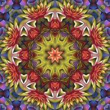 Floral Religion Mandala 5D DIY Paint By Diamond Kit - Paint by Diamond