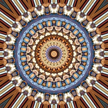 Blue And Orange Religion Mandala 5D DIY Paint By Diamond Kit - Paint by Diamond