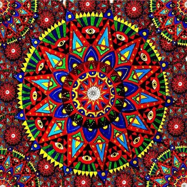 Religion Red Aesthetic Mandala 5D DIY Paint By Diamond Kit - Paint by Diamond