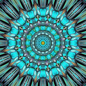 Sky Blue Religion Mandala 5D DIY Paint By Diamond Kit - Paint by Diamond