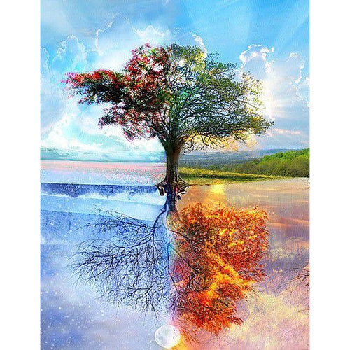Four Seasons Tree 5D DIY Paint By Diamond Kit
