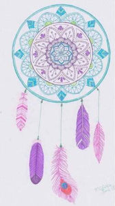 Purple Dream Catcher 5D DIY Paint By Diamond Kit