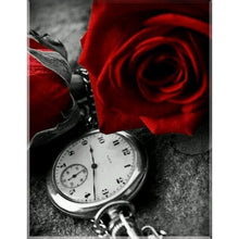 Red Roses & Watch 5D DIY Paint By Diamond Kit - Paint by Diamond