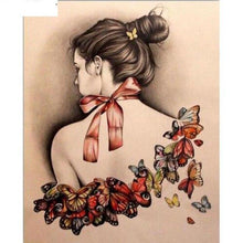 Butterfly Butterfly Girl Neck 5D DIY Paint By Diamond Kit - Paint by Diamond