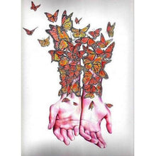 Butterfly Hands 5D DIY Paint By Diamond Kit - Paint by Diamond