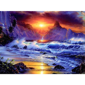 Beautiful Sea And Sky 5D DIY Paint By Diamond Kit - Paint by Diamond
