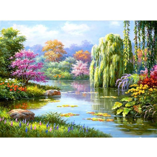 Spring Landscape 5D DIY Paint By Diamond Kit - Paint by Diamond