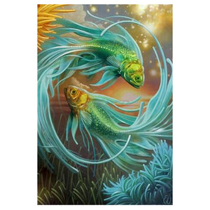 Fantasy Fish 5D DIY Paint By Diamond Kit
