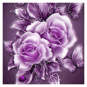 Rose &Butterfly 5D DIY Paint By Diamond Kit