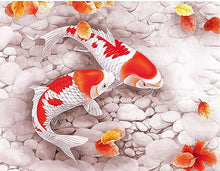 Red & White Fishes 5D DIY Paint By Diamond Kit
