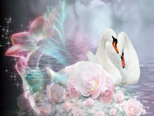 Mystical Swans 5D DIY Paint By Diamond Kit - Paint by Diamond