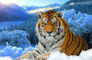 Snow Tiger 5D DIY Paint By Diamond Kit