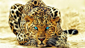 Leopard Tiger 5D DIY Paint By Diamond Kit