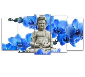 Buddha & Orchid 5D DIY Paint By Diamond Kit