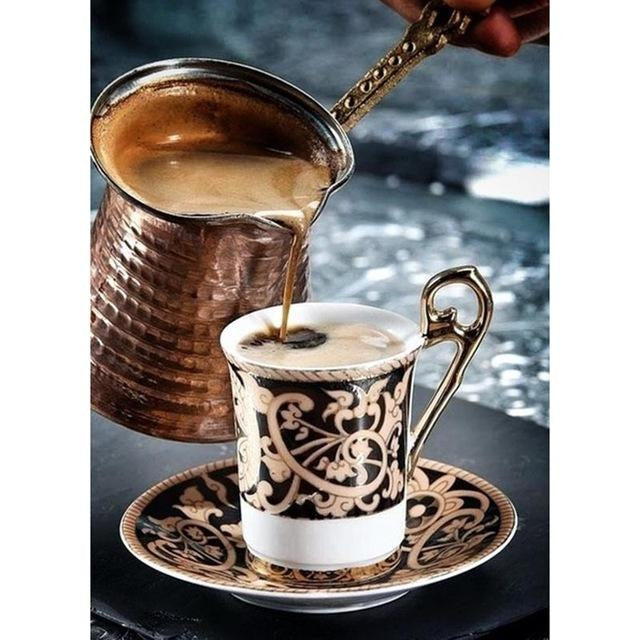 Sweet Turkish Coffee Cup 5D DIY Paint By Diamond Kit - Paint by Diamond